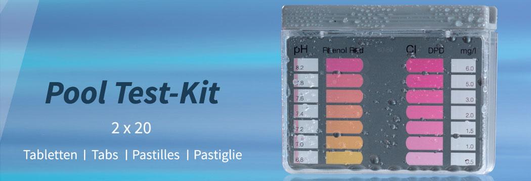 Go Pool Tester in den Varianten Chlor-pH-Wert und Aktivsauerstoff-pH-Wert